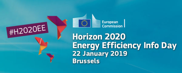 We will be @ Horizon 2020 Energy Efficiency Info Day – 22 January 2019